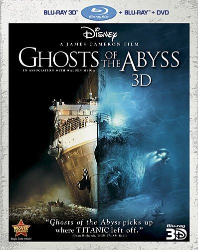 Ghosts of the Abyss 3D (Three-Disc Combo: Blu-ray 3D/Blu-ray/DVD) -  Rated G, James Cameron, Bill Paxton