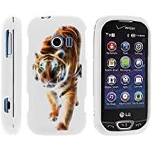 LG Extravert 2 Phone Cover, Lightweight Snap On Armor Hard Case with Cute Design Collage for LG Extravert 2 VN280 (Verizon) by MINITURTLE - Blazing Tiger