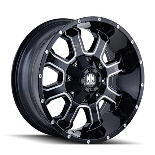 4wd Truck Rims - Mayhem Fierce Wheel with Milled Finish (17x9