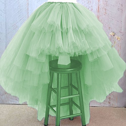 Simlehouse Womens High Low Asymmetrical Tiered Puffy Tulle Skirts Women Floor Length Tulle Ball Gowns