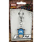 Licenses Products Marvel Comics Retro Captain America Head Rubber Zipper Pull Figure by Licenses Products