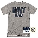 Popfunk U.S. Navy Dad T Shirt & Exclusive Stickers (X-Large)