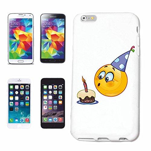 """cas de téléphone iPhone 4 / 4S """"KID SMILEY AS ANNIVERSAIRE AVEC CAKE ET BOUGIE """"smile EMOTICON APP de SMILEYS SMILIES ANDROID IPHONE EMOTICONS IOS"""" Hard Case Cover Téléphone Covers Smart Cover pour Ap"""