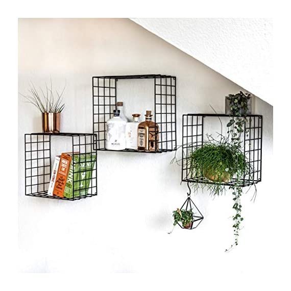 Kimisty Mesh Floating Shelves (Square) -  - wall-shelves, living-room-furniture, living-room - 51gIFTFINmL. SS570  -