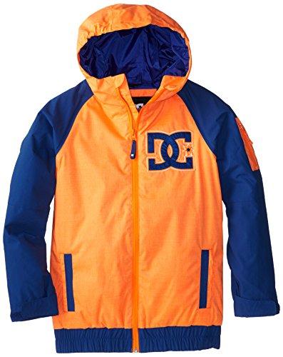 DC Apparel Big Boys' Troop Snow Jacket, Shocking Orange, 14