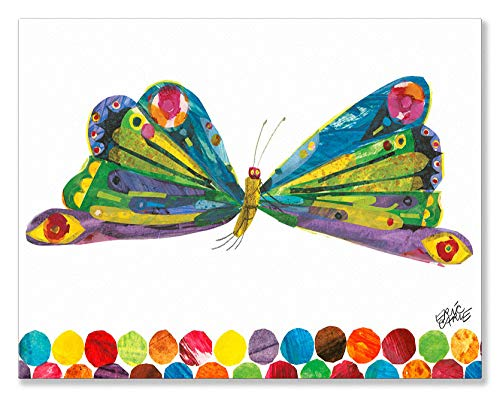 (Oopsy Daisy Eric Carle's Butterfly Canvas Wall Art, 18x14, Multi)
