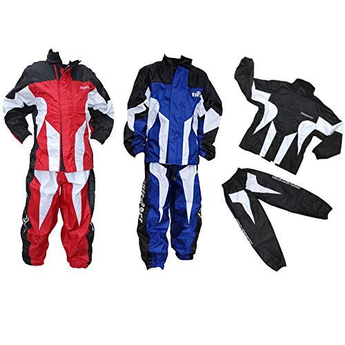 Wulfsport Kids Race MX Wet Weather Over Motocross Suit Children Motorbike Top & Pants Set - Blue 8-10 years