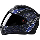 Steelbird Helmet SBA-1 Free Live with Plain Visor In Matt finish (L-600MM, Black with Blue)