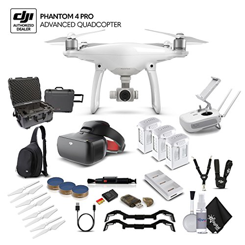 DJI Phantom 4 Advanced (CP.PT.000689) With WaterProof Case and Racing Editon - Graphite Kit Stabilizer