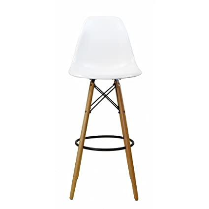 Design Tree Home Charles Eames Style DSW Bar Stool White