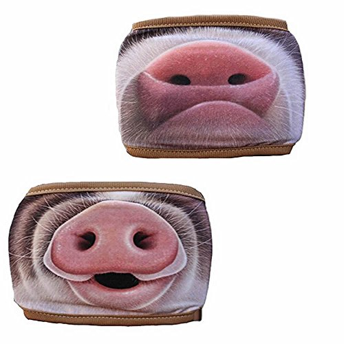 GOOTRADES 2 Pack Funny Pig Nose Pattern Anti Dust Cotton Mouth Mask for Men/Women (C) -
