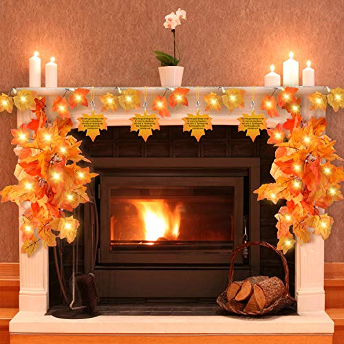 Thanksgiving Decorations for Home,Thanksgiving Lights for Table,Outdoor,Fall Maple leaf lights for Party Thanksgiving Décor (Fall Lights Leaf)