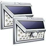 Litom 24 LED Solar Light, Super Bright Motion Sensor Outdoor Lights Wide Angle with 6 LEDs Wireless Waterproof Security Lights for Front Door, Patio, Deck, Yard, Garden-2 Pack