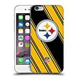 Official NFL Stripes 2017/18 Pittsburgh Steelers Soft Gel Case for Apple iPhone 6 / 6s