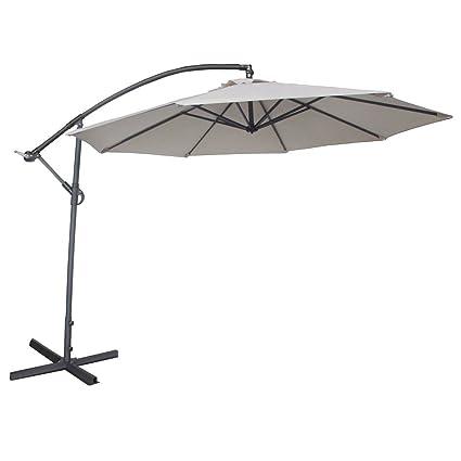 abba patio 10 feet offset cantilever umbrella outdoor hanging patio umbrella ivory - Abba Patio