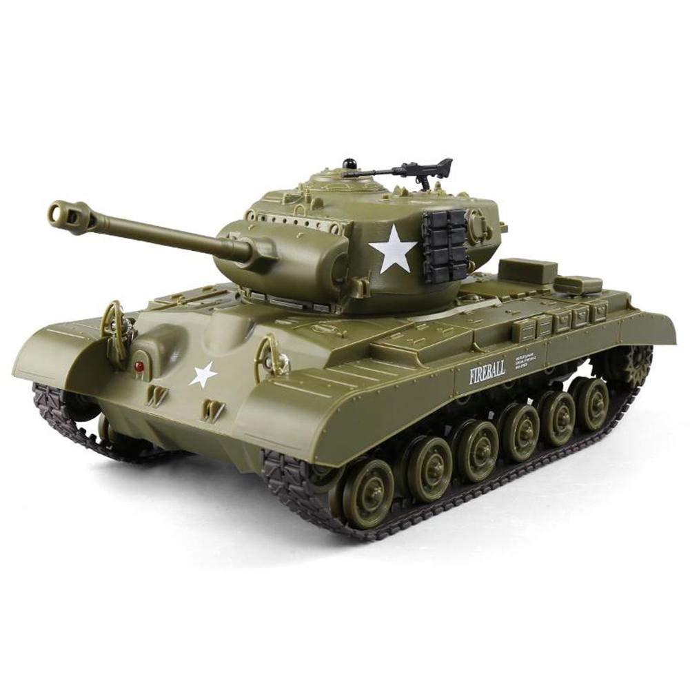 Wovemster 3841-02 Tanque de batalla 1:30 con sistema de combate infrarrojo integrado 2.4 Ghz RC R//C Control remoto sonido tanque veh/ículo rastreado
