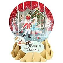 3D Pop Up Nutcracker Medium Snowglobe Christmas Card