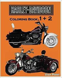 Amazon.com: Harley-Davidson : Coloring Book 1+2: Sketch Coloring ...