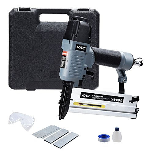 Goplus 18 Gauge 2-in-1 Air Brad Nailer Pneumatic Narrow Crown Stapler w/Carrying Case and Safety Glasses by Goplus (Image #6)
