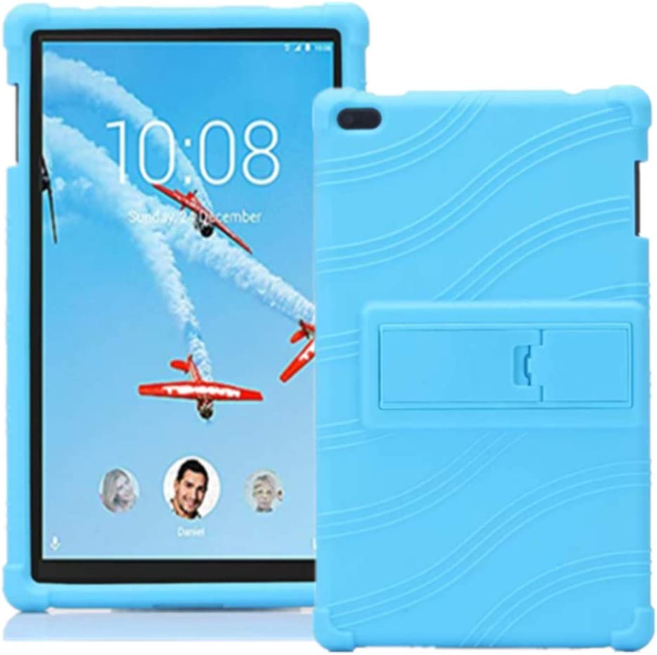 Lenovo TAB 4 8 Case - Light Weight Shock Proof Soft Silicone Cover [Kids Friendly] for Lenovo TAB 4 8 TB-8504F TB-8504N Tablet 2017 Release, (NOT for TB-8304F or Plus Model TB-8704) (Light Blue)