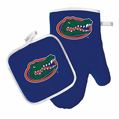 Oven Mitt and Pot Holder Set - Barbeque BBQ Kitchen Backyard Outdoors - NCAA - Florida Gators ()