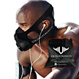 Vikingstrength New 24 Levels Training Workout Mask for Running Biking MMA Endurance with Adjustable Resistance, High Altitude Elevation Mask for Air Resistance Training
