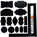 Blami 99 Premium Chalkboard Labels Keep Your Home & Kitchen in Order - EASILY: CHALKBOARD STICKERS & WHITE 3mm CHALK MARKER for Labeling Jars and Widening Tags. Get Your Chalkboard Paint Labels Now