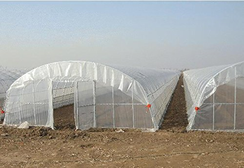 Agfabric 3.9Mil Plastic Covering Clear Polyethylene Greenhouse Film UV Resistant for Grow Tunnel and Garden Hoop, Plant Cover&Frost Blanket for Season Extension, 6.5x32ft by Agfabric (Image #5)