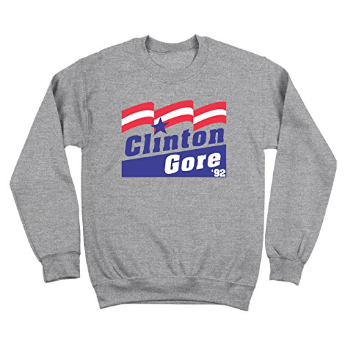 Clinton Gore 92 Funny Election Politics 90s Presidential Humor Mens Sweatshirt Medium - Clinton Outlets