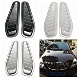 MONNY 1 Pair Car Auto Decorative Air Flow Intake Scoop Turbo Bonnet Vent Cover Hood For Fender Black/White/Grey Car Styling