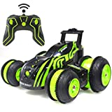 #7: Mitoys Stunt RC Cars Remote Control Car Double-Sided Rotating Vehicles 3D/180/360 Degree Flips, Birthday Gift Toy for Boys Girls Green