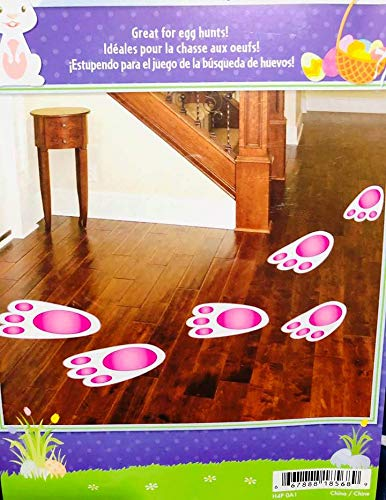 (Easter Bunny Foot Prints Bunny Tracks Set of 16)