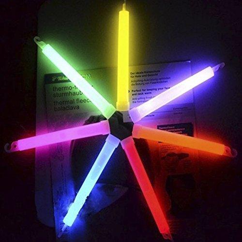 Ezyoutdoor 10 pieces Light Stick Glow Sticks SpotOn ChemLight new Light Sticks Cyalume Green 8 Hours Emergency Safety Chem Light Sticks Snaplights random color