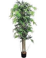 Decovego Bambu konstträd konstgjord växt med äkta trä 120 cm