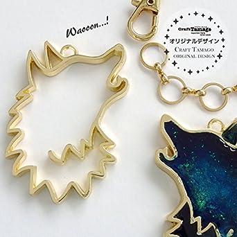 41f1a6ea1ed811 Amazon   Craft Tamago 【10個】レジン枠 空枠 遠吠えオオカミ //Craft Tamagoオリジナル//    アクセサリーパーツ 通販
