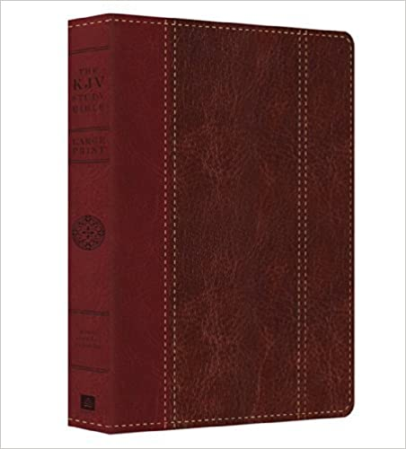 By Christopher D. Hudson The KJV Study Bible - Lg Print (DiCarta) (King James Bible) (Lea Lrg) [Paperback]