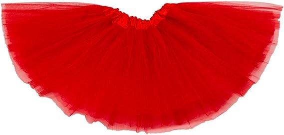 Falda de Tul Lily para niñas - Tutú Enagua Falda de Ballet - Rojo ...