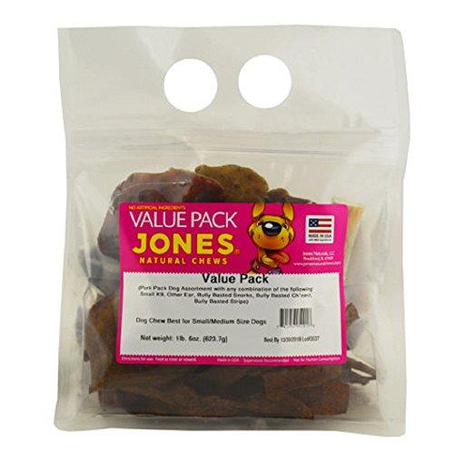 Jones NATURAL CHEWS VALUE PACK PORK AST. DOG CHEWS - 22 OZ. (Jones Natural Pork Chews)