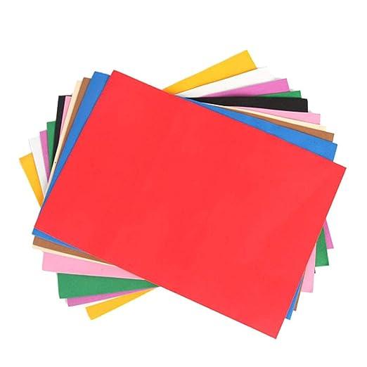 SUPVOX 80 ST/ÜCKE Schaum Papier Handwerk Schaum Farbige EVA Schaumstoffplatten f/ür Klassenzimmer Projekt Scrapbooking DIY Geschenkkarte