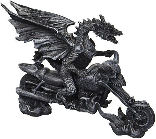Design Toscano Biker Dragon on Skeleton Chopper Statue (Skeleton Choppers)