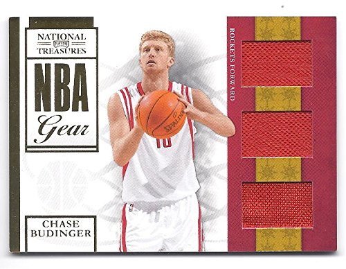 CHASE BUDINGER 2009-10 Panini National Treasures NBA Gear #29 Trios Parallel TRIPLE JERSEY Rookie Card RC #01 of only 25 Made! FIRST ONE PRODUCED! Phoenix Suns Basketball -