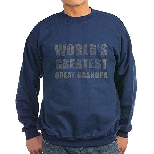 CafePress - World's Greatest Great Grandpa (Grunge) Sweatshirt - Classic Crew Neck Sweatshirt Navy ()