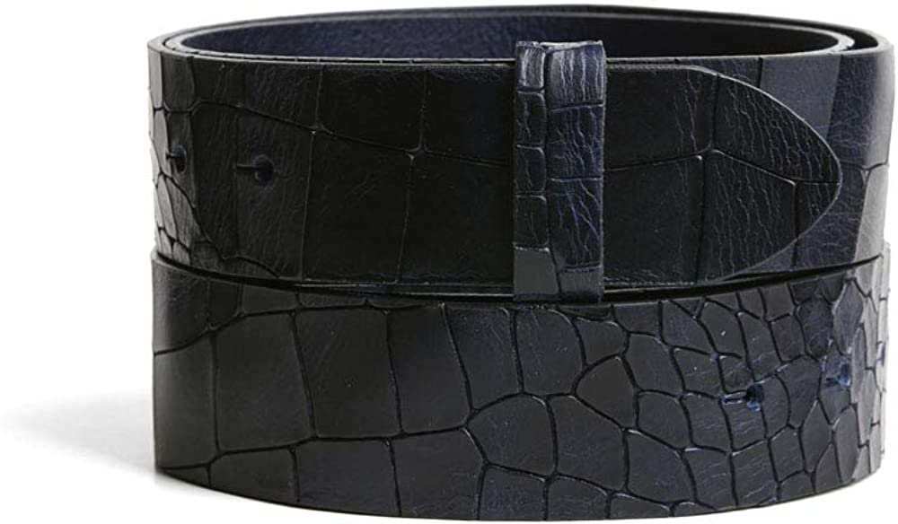 VaModa Belt, Cinturón en piel, modelo Folkestone, colore azur, sin hebilla