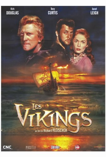The Vikings Movie Poster (27 x 40 Inches - 69cm x 102cm) (1958) French -(Kirk Douglas)(Ernest Borgnine)(Janet Leigh)(Tony Curtis)(James Donald)(Alexander Knox)