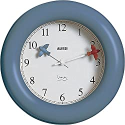 Alessi Kitchen Wall Clock Aleesi 10 AZ, Blue