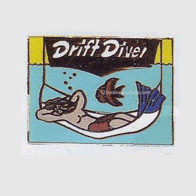 Trident Drift Diver Collectible Scuba Diving Pin Diver Collectible Scuba Diving Pin
