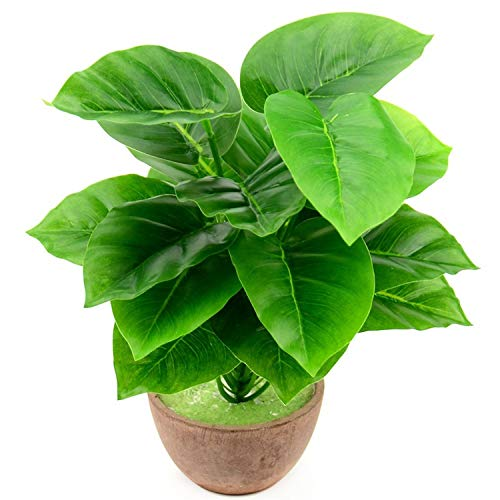 1 Bouquet/18 Leaves Artificial Silk Palm Monstera Leaves Plant for Hawaii Luau Party Decorations Beach Wedding Table Decoration,L,3 ()