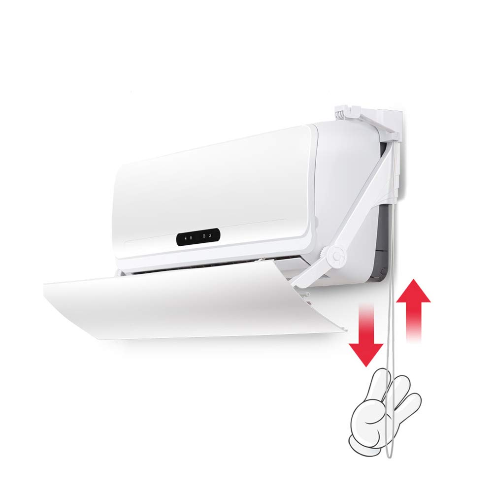 Air conditioning wind deflector Anti Direct Blowing Bedroom Living Room Air Conditioning Baffle Right Pull Cord Adjustment