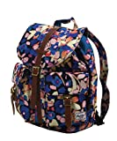 Herschel Supply Co. Dawson Small Backpack, Painted Floral/Tan Synthetic Leather