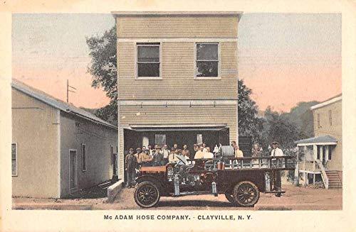 Fire Truck Postcard - Clayville New York McAdam Hose Co Fire Truck Vintage Postcard JD228163